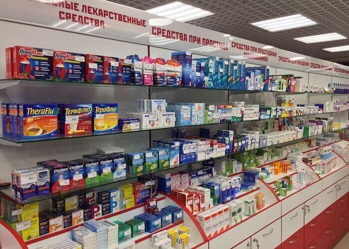 Мебель для аптеки открытой выкладки на заказ