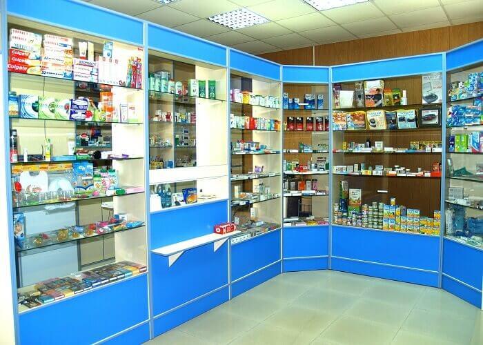 Мебель для аптеки закрытой выкладки