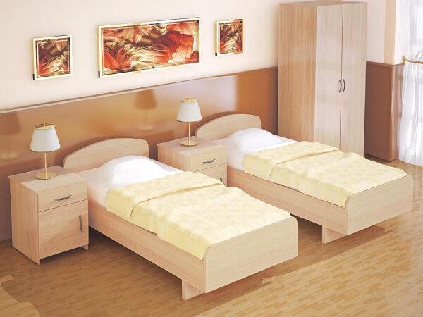 Комплект светлой мебели для гостиницы на заказ