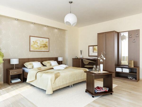 Мебель для гостиницы коричневого цвета на заказ
